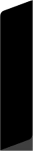 20 x 65 mm Mahogni (KL) - Alm. glat fodpanel