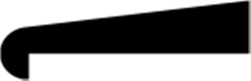 10 x 28 mm Eg  (KL) - Glasfalsliste m/ 20 mm fals