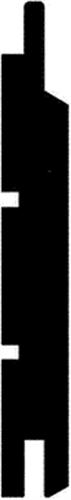 15 x 110 mm Hvidmalet NCS (KL) - TGV Forbrug ca.9,1 lbm/m2