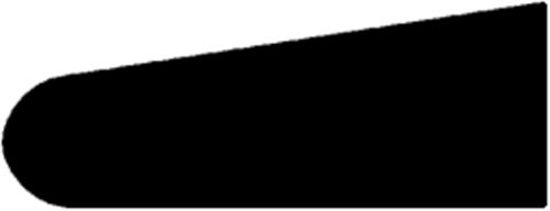 8 x 21 mm Mahogni  (KL) - Glasliste (m/ dobbelt runding)