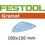 FESTOOL GRANAT SLIBEPAPIR - P150 STF DELTA/7 GR PK/100 STK