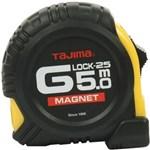 TAJIMA BÅNDMÅL M. MAGNET - 5,0 M G -LOCK. M/GUMMIGREB.