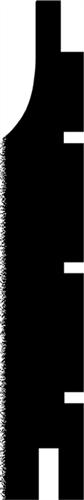 25 x 150 mm Gran U/S-Kvinta RU - Vandret beklæd.m/hulk.Ca.8m/m2