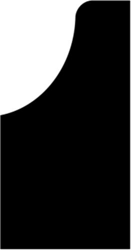 30 x 57 mm Sort Eg (KL) - Bagkant-Hulkehl