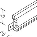 KELFAE TVÆRPROFIL T24 HVID - 1200 MM