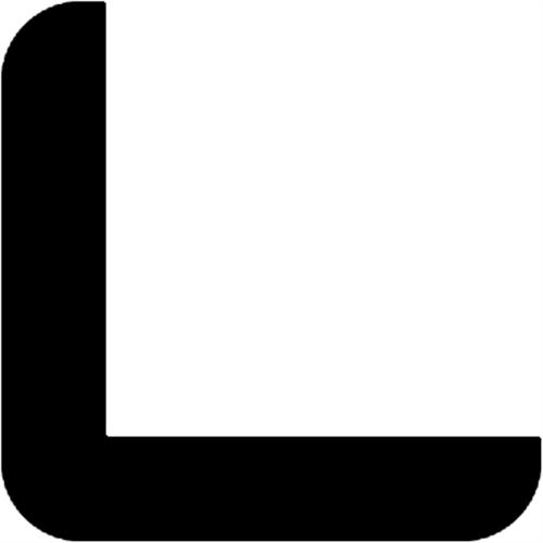 42 x 42 mm Hvidmalet fyr - Hjørneliste m/ 35 x 35 mm fals