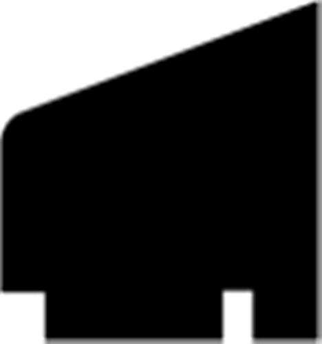 16 x 15 mm Fyr Vac. Hvidmalet - Glasliste / Udendørs Maling