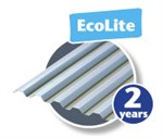 PLASTMO TRAPEZ TAGPLADE PVC - ECOLITE BLÅ 109X300CM