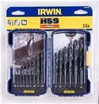 IRWIN HSS METALBOR 1,5-10MM - 15 STK/KASSETTE *NETTO-PRIS*