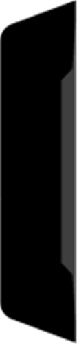 15 x 55 mm Mahogni - Alm. glat indfatning