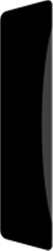 14 x 55 mm Hvidmalet Fyr List - Alm. glat indfatning