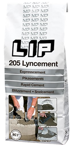 LIP 205 LYNCEMENT - GRÅ  PS/5 KG