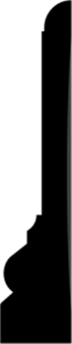21 x 100 mm Hvidmalet Fyr List - Indfatning