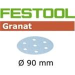 FESTOOL GRANAT SLIBESKIVER - P 150  STF D90/6 GR PK/100 STK