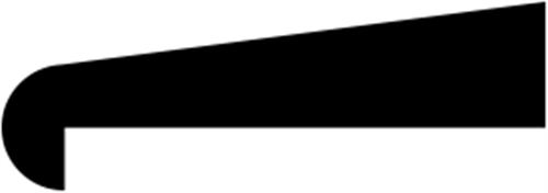 10 x 22 mm Mahogni  (KL) - Glasfalsliste m/ 15 mm fals