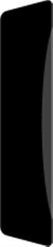 14 x 65 mm Hvidmalet Fyr List - Alm. glat indfatning