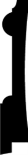 21 x 118 mm Fyr U/S 1-2 List. - Fodpanel  Enghave