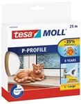 TESA P-PROFIL TÆTNINGSLISTE - 5,5X9MMX25M HVID GUMMI