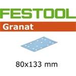 FESTOOL GRANAT SLIPEPAPIR - P120 STF 80X133  PK/100 STK