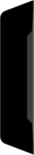 15 x 68 mm Mahogni - Alm. glat indfatning
