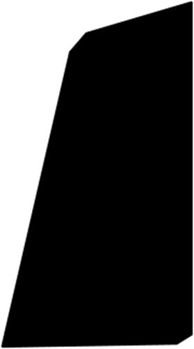 15 x 43 mm Mahogni - Skureliste
