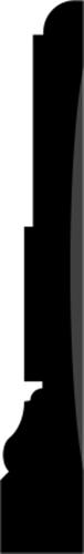 21 x 138 mm Hvidmalet Fyr List - Indfatning Valby