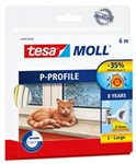 TESA P-PROFIL TÆTNINGSLISTE - 5,5X9MMX6M HVID GUMMI