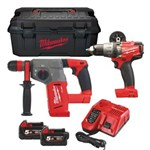 MILWAUKEE 18V POWERPACK - M18 SET2I-502W M18 FPD+M18 CHX