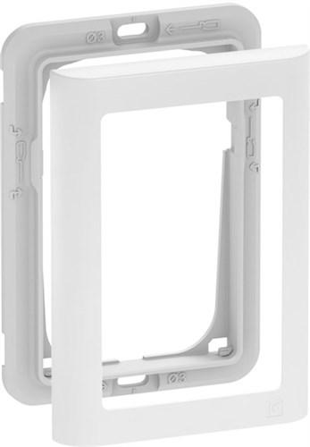 LK FUGA SOFT DESIGN + RAMME - HVID 1 1/2 MODUL *NT-PRIS*