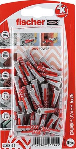 FISCHER DUOPOWER BLISTERKORT - 5X25 MM K NV SB/45 STK