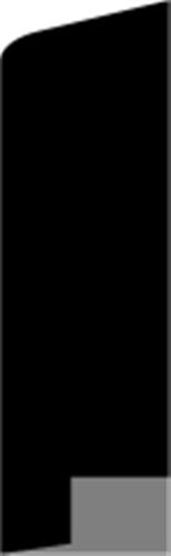 21 x 68 mm Hvidmalet Fyr List - Alm. Glat Fodpanel
