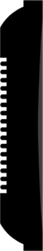 21 x 120 mm Fyr U/S 1-2 List. - Indfatning Ordrupvej