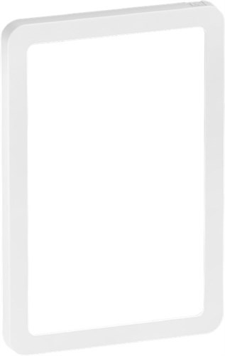 LK FUGA SLIM DESIGN + RAMME - HVID 1 1/2 M *NT-PRIS*