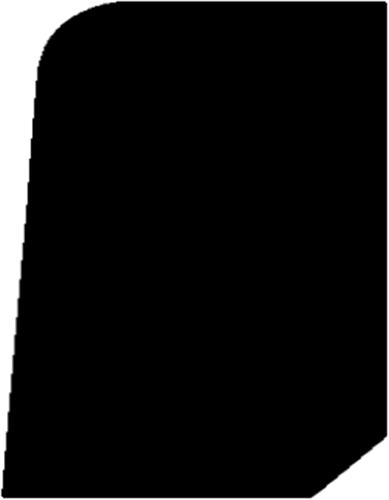 15 x 21 mm Hvidmalet Fyr (KL) - Afslutningsliste//Fodliste