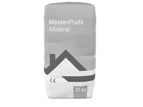 MESTERPUDS HVID MINERAL(CV) - SLUTPUDS POSE/25 KG 1,5 MM