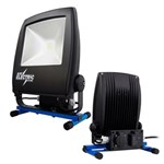 BLUE ELECTRIC LED ARB. LAMPE - 50W PÅ FOD M/230V +USB UDTAG