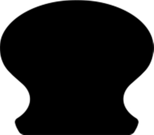 55 x 62 mm Mahogni - Håndliste