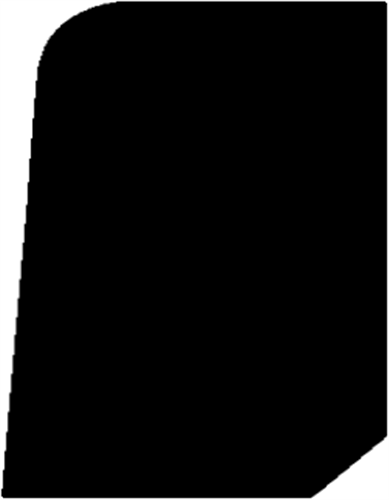 21 x 43 mm Hvidmalet Fyr List - Alm. Glat Fodpanel