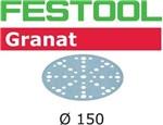 FESTOOL GRANAT SLIBESKIVER - P 150 STF D150/48 PK/100 STK
