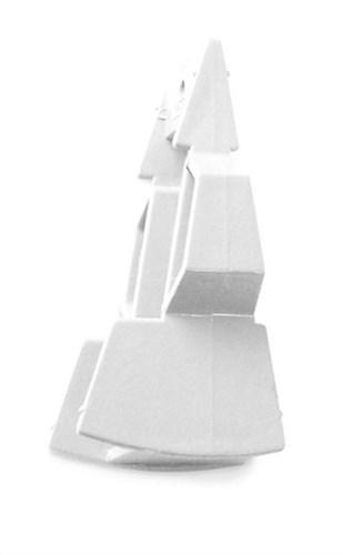 PLASTMO TREKANTKILE - 18/27GRADER HVID (VT)