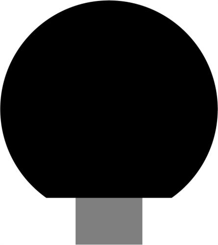 Ø130 x 115 mm Fyr (KL) - Kugle m/Ø28 mm hul for