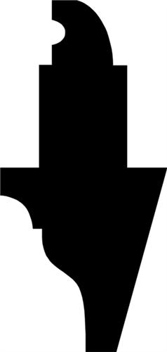 56 x 118 mm Fyr  (KL) - Løsholt m/ 13 x 35 mm fals