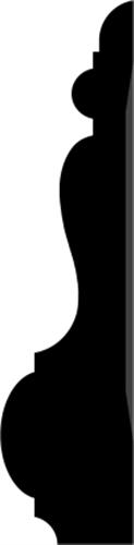 34 x 139 mm Fyr U/S 1-2 List. - Indfatning Jægersborg Allè