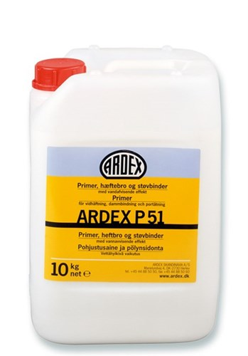 ARDEX PRIMER,STØVBINDER - P 51 DUNK/1 KG *NT-PRIS*