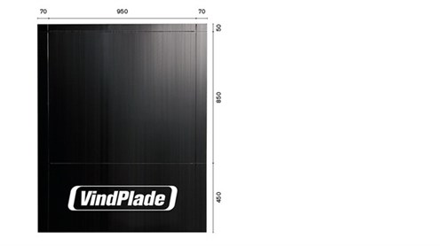 BYGTJEK WINWIN  SORT VINDSTOP - PLADE 450+850+50 BREDDE 950MM