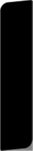 15 x 68 mm Fyr U/S - Alm. Glat fodpanel