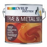 DYRUP TRÆ & METAL OLIE 50 - HVID 0,75 LTR HALVBLANK