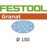 FESTOOL GRANAT SLIBESKIVER - P 240 STF 150/16 GR PK/100 STK