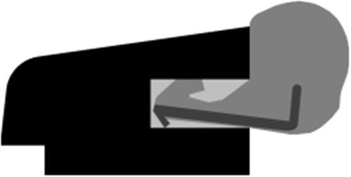 9 x 21 mm Hvidmalet fyr - Tætningsliste