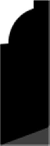15 x 43 mm Hvidmalet Fyr List - Fodpanel